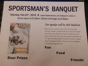 Latham Sportsman's Banquet